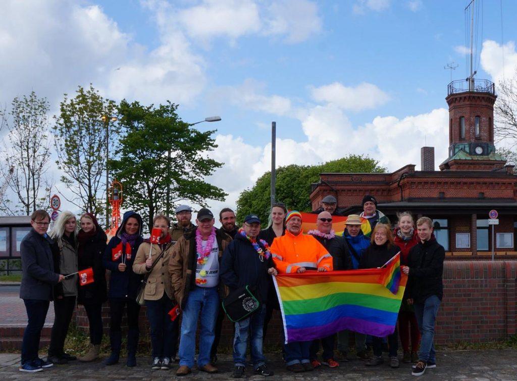 Spaziergang gegen homophobie
