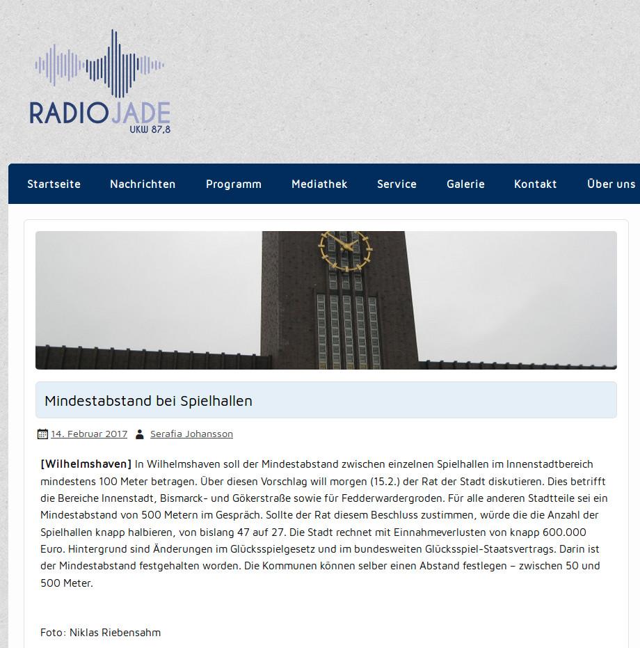 Radio Jade vom 14.02.2017