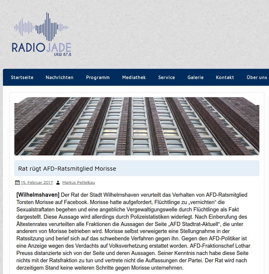 Radio Jade vom 15.02.2017