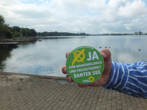 Kampagnenbild 'Ja zum Banter See'