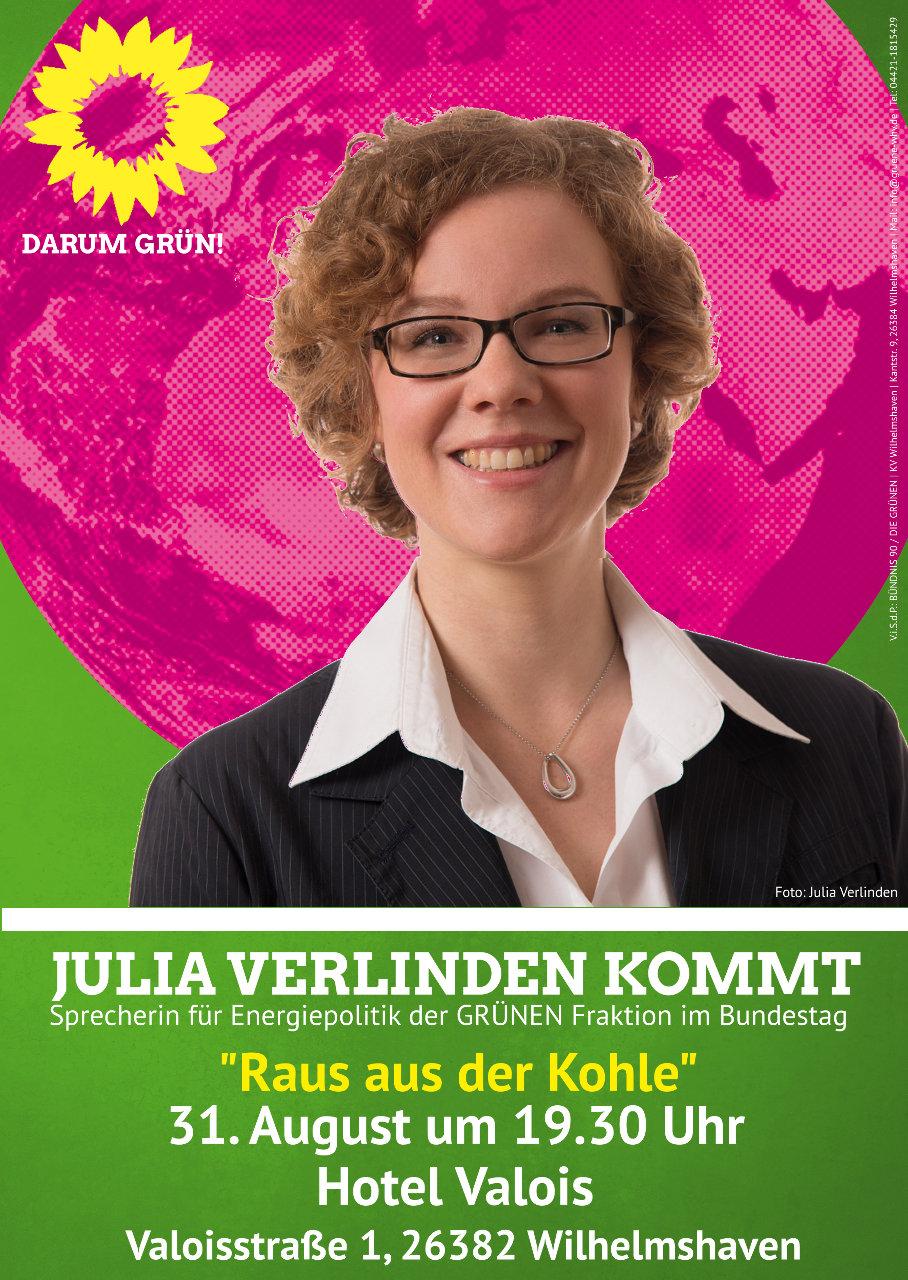 Veranstaltungsposter Julia Verlinden