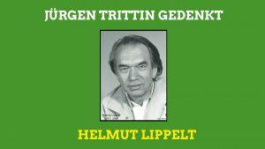 Jürgen Trittin gedenkt Helmut Lippelt