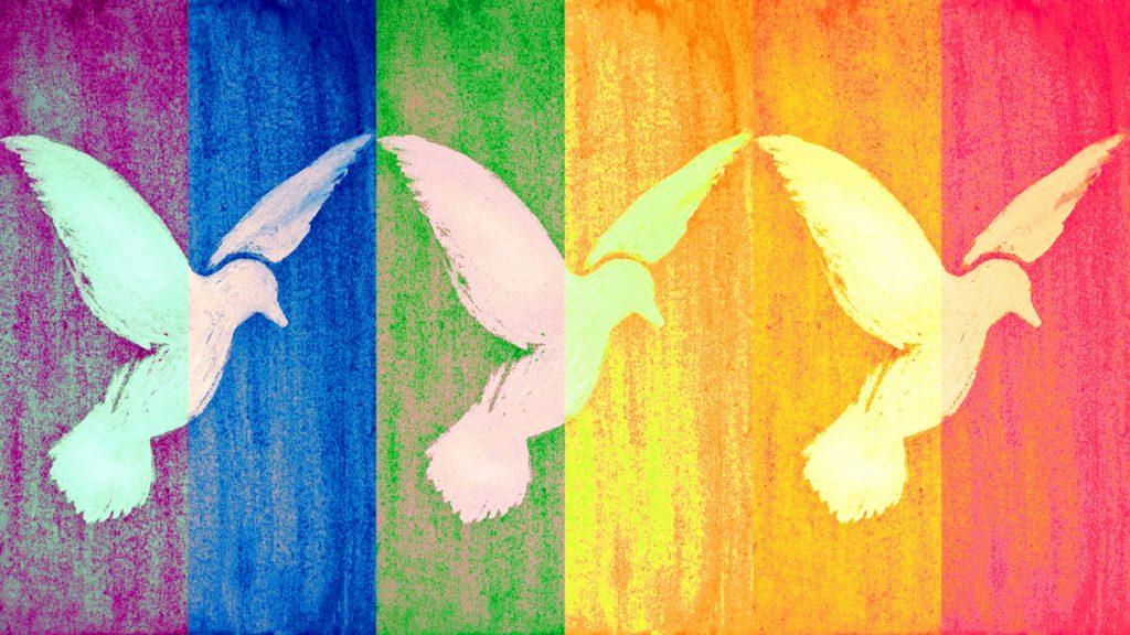 Friedensmarsch-Banner
