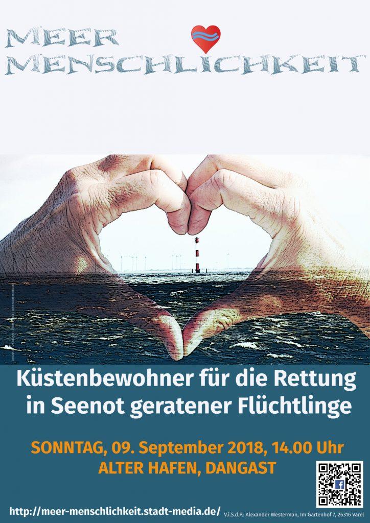 Plakat - Menschenkette Dangast